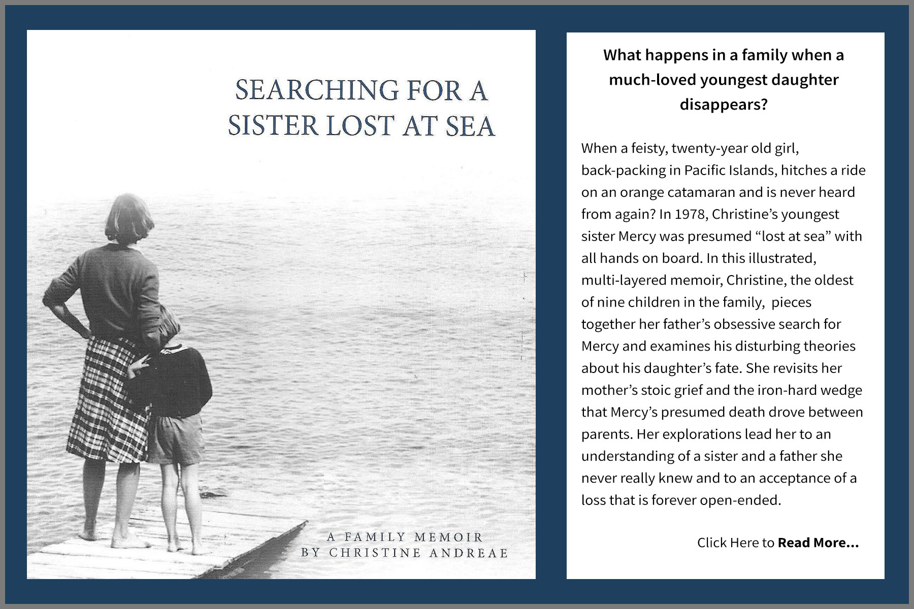 Book Cover Searching for a Sister Lost at Sea